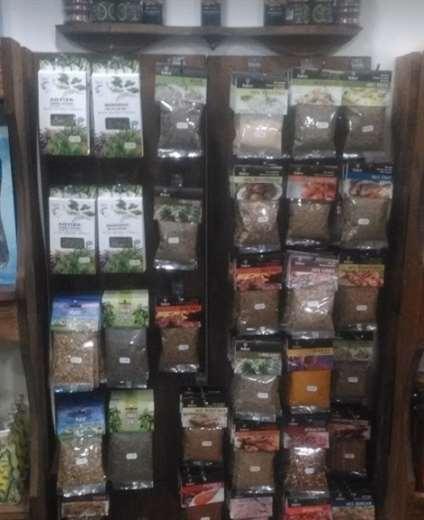 Greek Herbs & Spices in shelf - Rhodes Greece