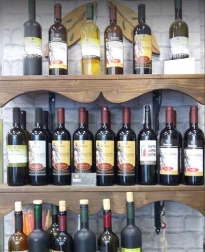 Wines from Rodos in shelf - Rhodes Greece